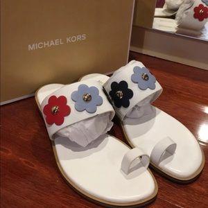 Brand New Michael Kors Sonya Toe Ring Sandal